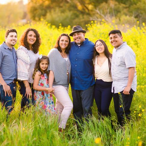 Ramirez Family || Santa Barbara Wildflower Family Portraits || CeJae Photography
