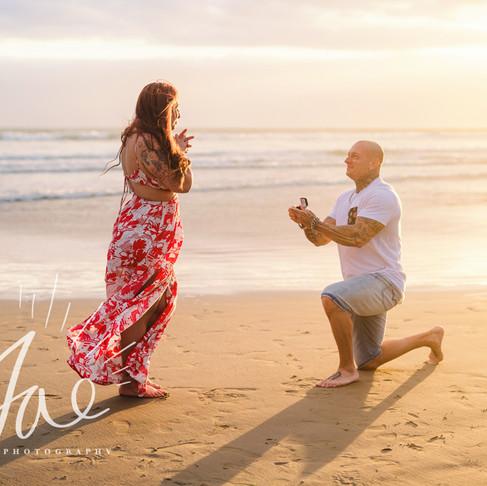 Megan & Chris || Pismo Beach Sunset Proposal || CeJae Photography