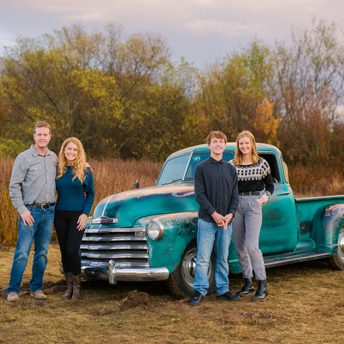Allen Family || Orcutt Family Portraits with Vintage Truck || CeJae Photography