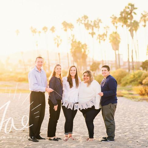 Millender Family || Santa Barbara Beach Family Portraits || CeJae Photography