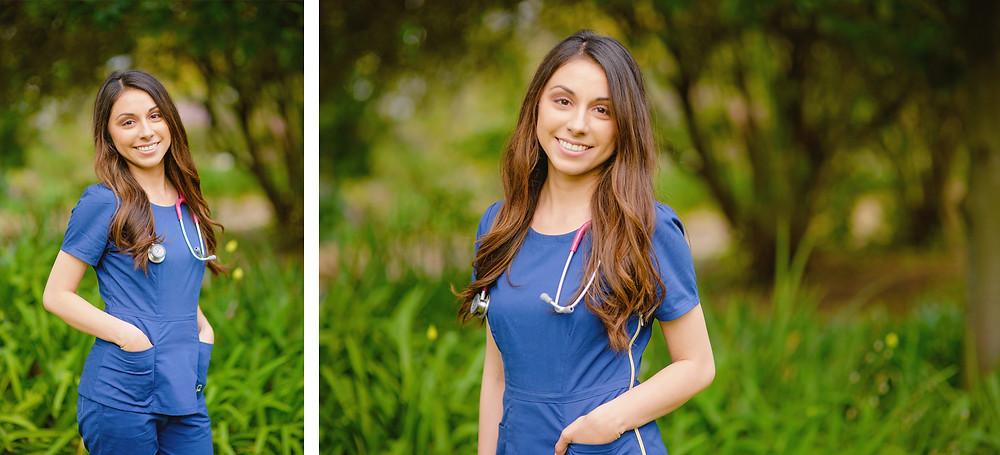 stethoscope nurse portrait