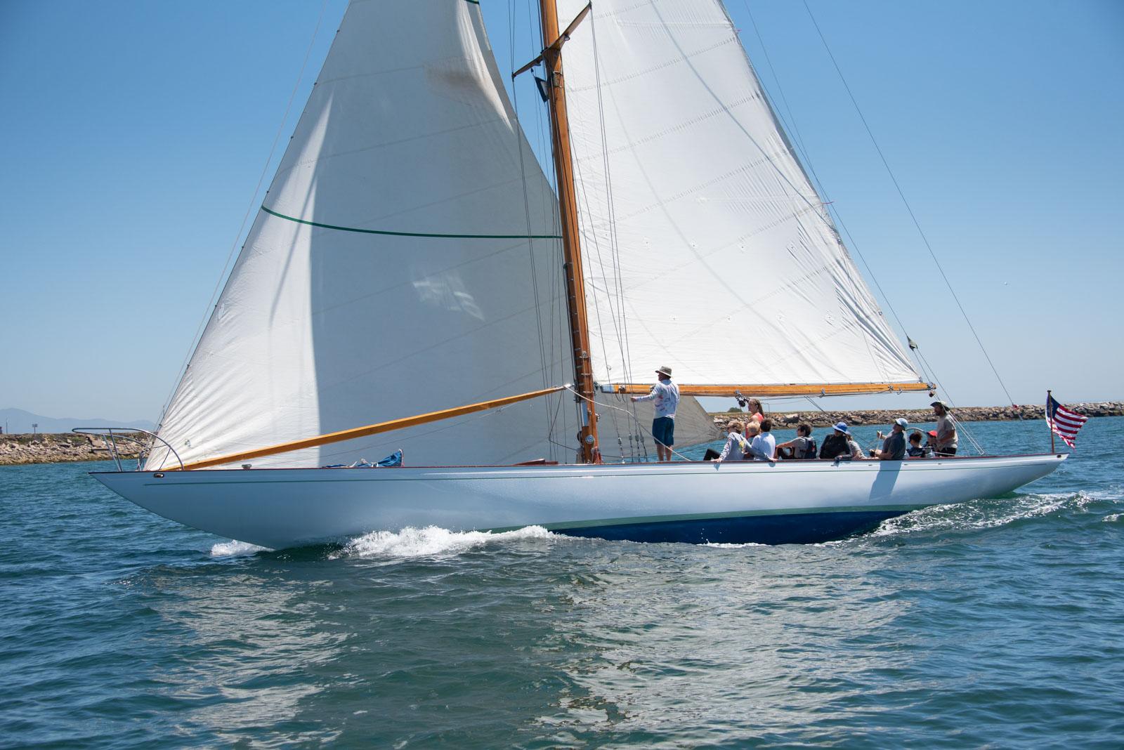 Sally under sail