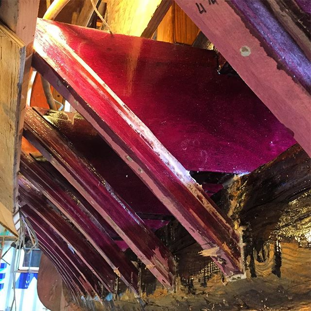 New Purple Heart frames and floor timbers installed in the Siwash