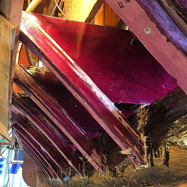 New Purple Heart frames and floor timbers installed in the Siwash.jpg