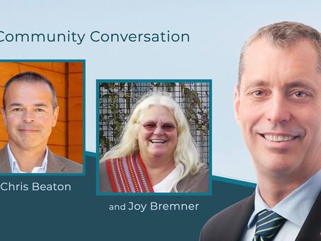 Community Conversation with Joy Bremner & Chris Beaton