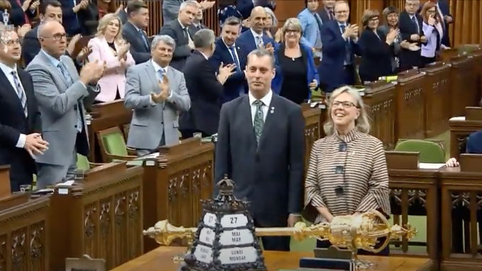 Paul Manly is introduced to the House of Commons!