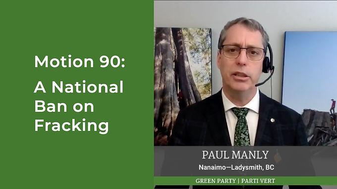 Motion 90: A National Ban on Fracking