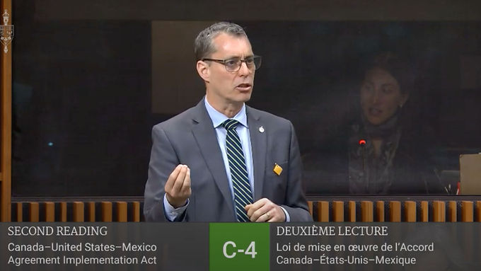Paul Manly asks about non-market free trade agreements in CUSMA