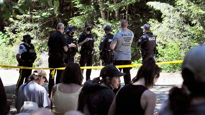 300 protesters hike in to Vancouver Island old-growth logging camps