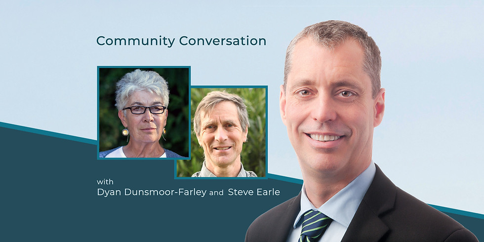 Collaborating for Community Wellness & Sustainability: A Community Conversation with Dyan Dunsmoor-Farley & Steve Earle