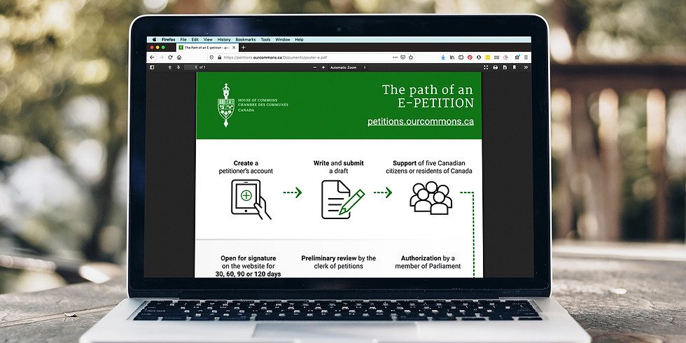 Parliamentary Petitions: A How-To Workshop