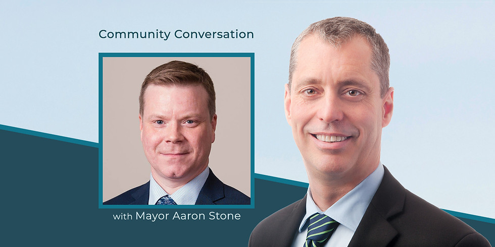 Building Back Better: A Community Conversation with Mayor Aaron Stone