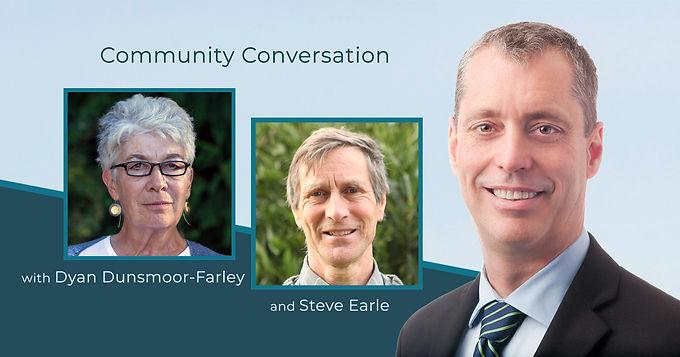 Community Conversation with Dyan Dunsmoor-Farley & Steve Earle