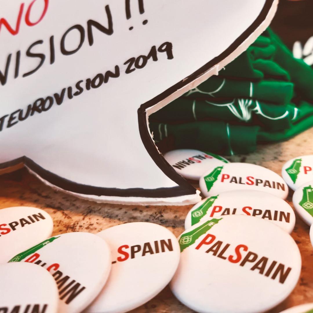 Chapas con el logo de PalSpain