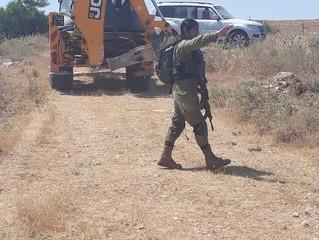 Israel rompe cañerías en Bardala / Water pipes destroyed by israelí forces in Bardala