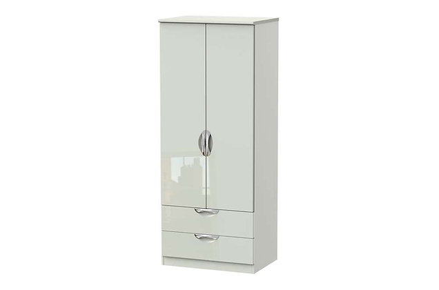 Icon 2ft6in 2 Drawer Double Wardrobe
