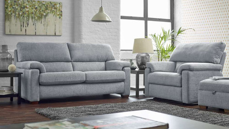 Ernest Fabric 3 Seater Sofa, Armchair and matching footstool