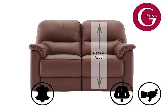 G Plan Chadwick Leather 2 Seater RHF Single Recliner Sofa