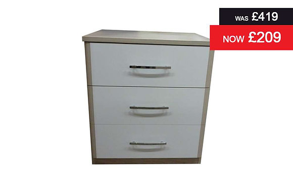 Azure 3 Drawer Wide Chest