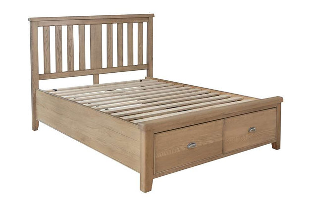 Toulouse 180cm Super King Size Bedstead - Wooden Headboard Drawer End