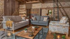 Alstons Poppy 3 Seater Fabric Sofa, 2 Seater Fabric Sofa & Armchair