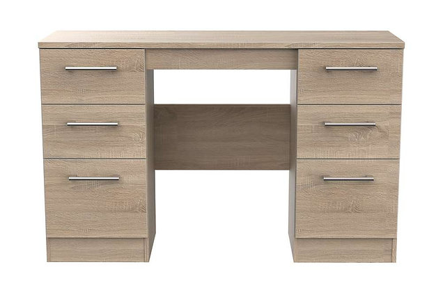 Sky 6 Drawer Kneehole Dressing Table