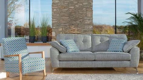 Savannah 4 Seater Sofa & Accent Chairs