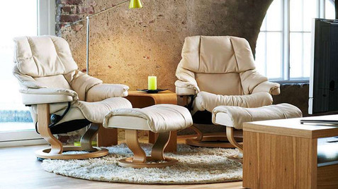 Ekornes Stressless Leather Swivel Recliner Chairs | Gordon Busbridge Furniture | Hastings, Eastbourne, St Leonards on Sea, Bexhill & Seaford