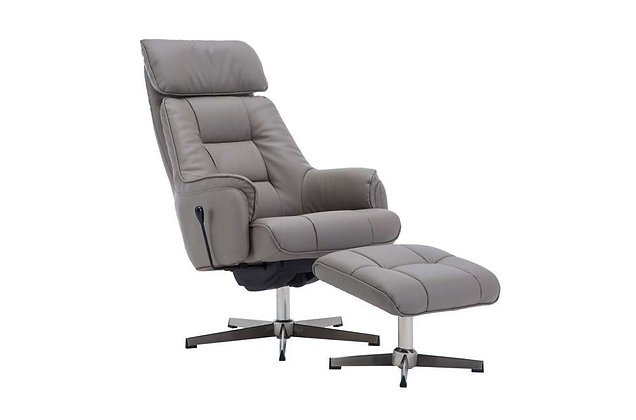 Auckland Swivel Recliner Chair & Footstool