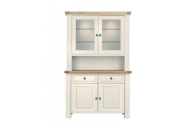 Bretagne 2 Door Dresser – Ivory with Natural Tops