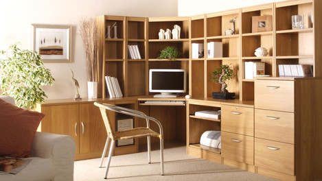 R White Office Furniture in Classic Oak