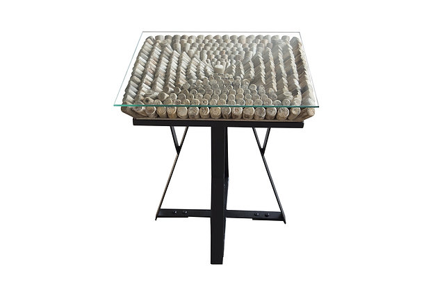 Driftwood Iona Staccato Square Lamp Table