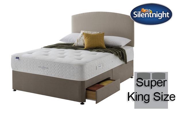 Silentnight Miracoil Saffron Eco Comfort Super King Size Divan Bed