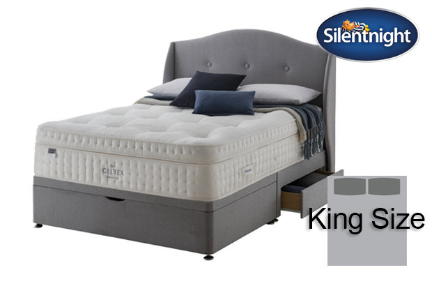 Silentnight Mirapocket Imperial Geltex 3000 Medium / Firm King Size Divan Bed