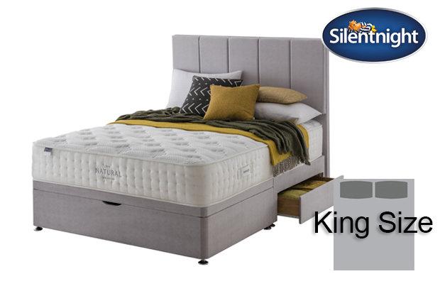 Silentnight Mirapocket Luxuriant Natural 1400 King Size Divan Bed