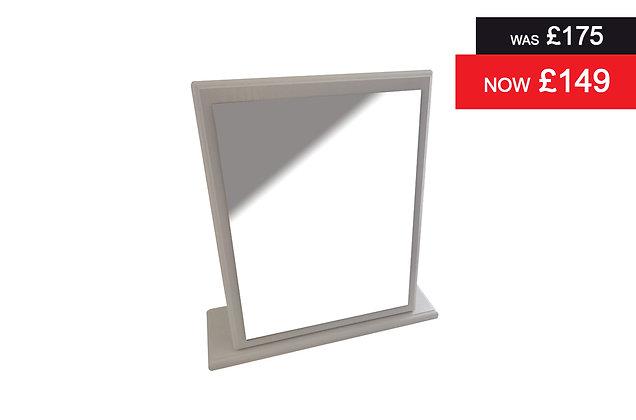 Clifton Small Single Mirror - White