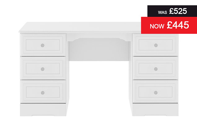 Nicole Double Pedestal Dressing Table