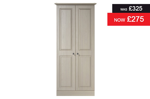 Toledo 2 Door Wardrobe - Elm