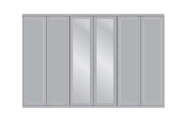 Cambridge 6 Door Mirrored Wardrobe
