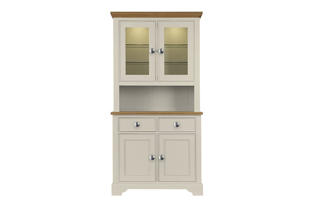 Somerdale Display Dresser Complete – Ivory with Natural Top