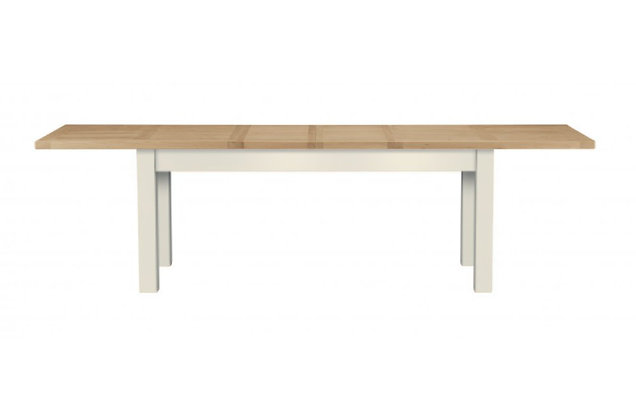 Bretagne 200cm Extending Dining Table – Ivory with Lacquered Top