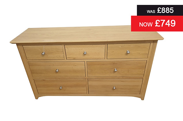 Charmwood 3 plus 4 Drawer Wide Chest