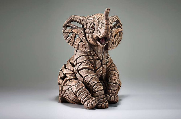 Edge Sculpture Elephant Calf Figure