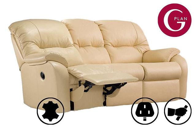 G Plan Mistral Leather 3 Seater Left Hand Facing Single Recliner Sofa