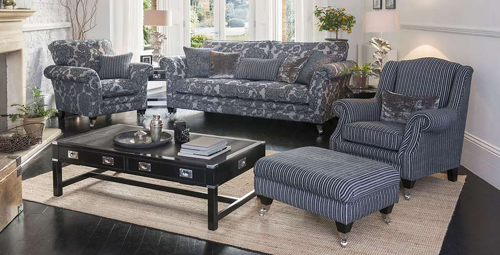Lowry Fabric Grand sofa, Armchair, Accent Chair and Footstool