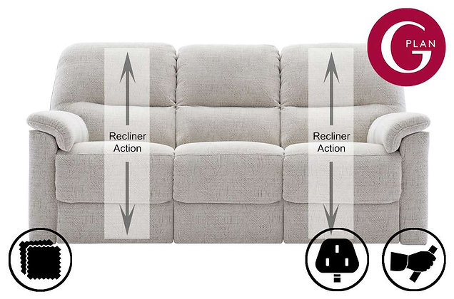 G Plan Chadwick 3 Seater Double Recliner Sofa