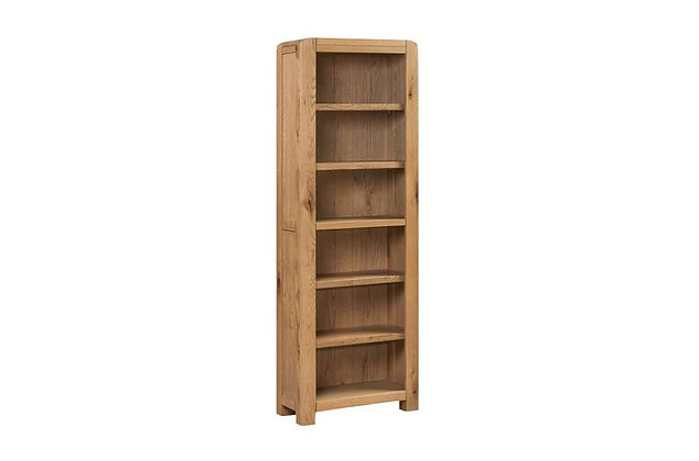 Capricorn Oak Tall Narrow Bookcase
