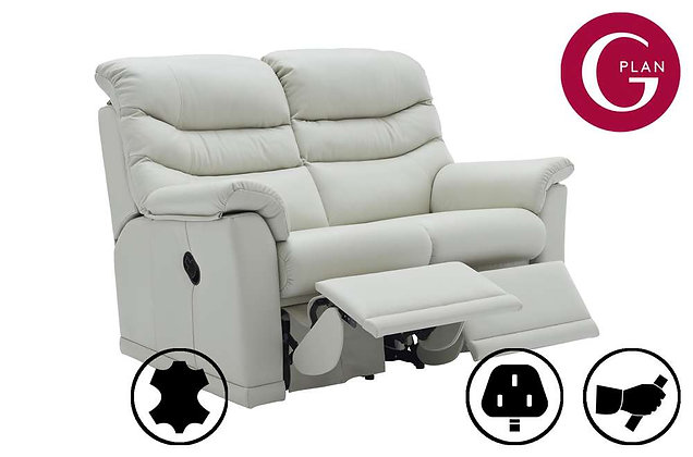 G Plan Malvern Leather 2 Seater Double Recliner Sofa