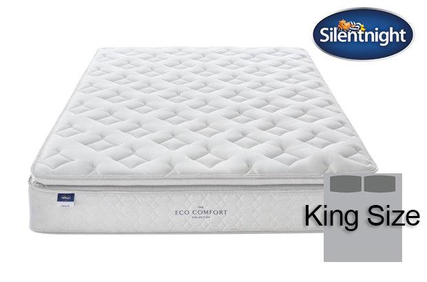 Silentnight Miracoil Laila Eco Comfort Pillow Top King Size Mattress