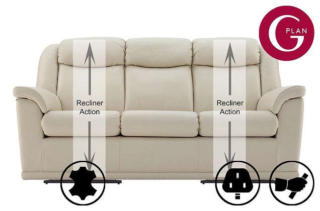 G Plan Milton Leather 3 Seater Recliner Sofa